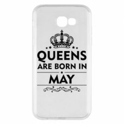 Чехол для Samsung A7 2017 Queens are born in May - FatLine