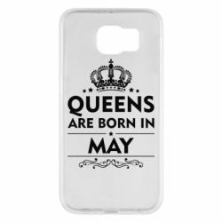 Чехол для Samsung S6 Queens are born in May - FatLine