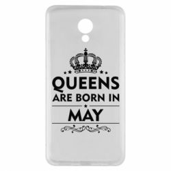 Чехол для Meizu M5 Note Queens are born in May - FatLine