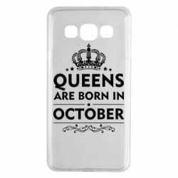Чехол для Samsung A3 2015 Queens are born in October - FatLine