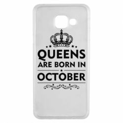Чехол для Samsung A3 2016 Queens are born in October - FatLine
