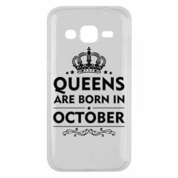Чехол для Samsung J2 2015 Queens are born in October - FatLine