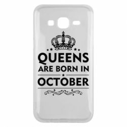 Чехол для Samsung J5 2015 Queens are born in October - FatLine