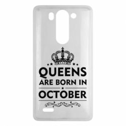 Чехол для LG G3 mini/G3s Queens are born in October - FatLine