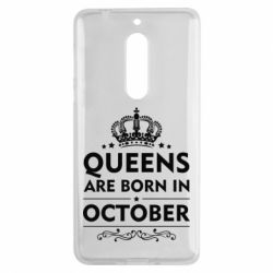 Чехол для Nokia 5 Queens are born in October - FatLine