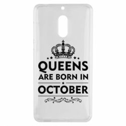 Чехол для Nokia 6 Queens are born in October - FatLine