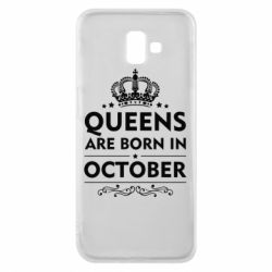 Чехол для Samsung J6 Plus 2018 Queens are born in October - FatLine