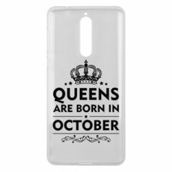Чехол для Nokia 8 Queens are born in October - FatLine