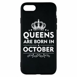 Чехол для iPhone 7 Queens are born in October - FatLine
