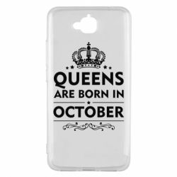 Чехол для Huawei Y6 Pro Queens are born in October - FatLine