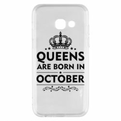 Чехол для Samsung A3 2017 Queens are born in October - FatLine