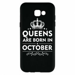 Чехол для Samsung A7 2017 Queens are born in October - FatLine