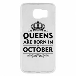 Чехол для Samsung S6 Queens are born in October - FatLine