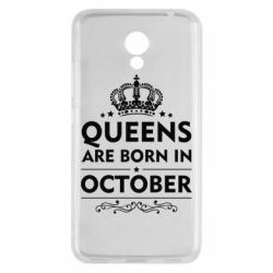 Чехол для Meizu M5c Queens are born in October - FatLine