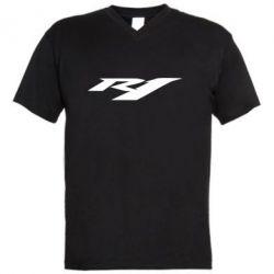 Мужская футболка  с V-образным вырезом R1 - FatLine