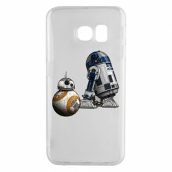 Чехол для Samsung S6 EDGE R2D2 & BB-8 - FatLine