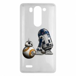 Чехол для LG G3 mini/G3s R2D2 & BB-8 - FatLine