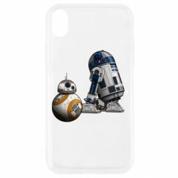 Чехол для iPhone XR R2D2 & BB-8 - FatLine