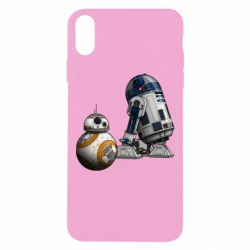 Чехол для iPhone Xs Max R2D2 & BB-8 - FatLine