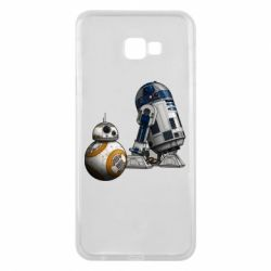 Чехол для Samsung J4 Plus 2018 R2D2 & BB-8 - FatLine