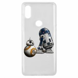 Чехол для Xiaomi Mi Mix 3 R2D2 & BB-8 - FatLine