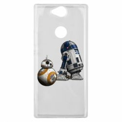 Чехол для Sony Xperia XA2 Plus R2D2 & BB-8 - FatLine