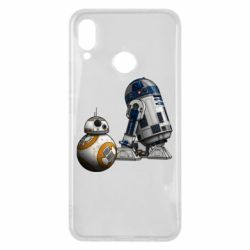 Чехол для Huawei P Smart Plus R2D2 & BB-8 - FatLine