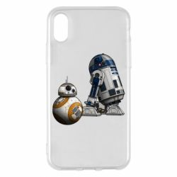 Чехол для iPhone X R2D2 & BB-8 - FatLine
