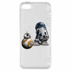 Чехол для iPhone5/5S/SE R2D2 & BB-8 - FatLine