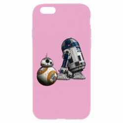 Чехол для iPhone 6 Plus/6S Plus R2D2 & BB-8 - FatLine