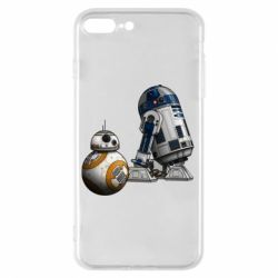 Чехол для iPhone 7 Plus R2D2 & BB-8 - FatLine