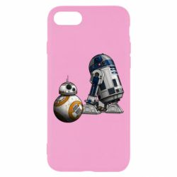 Чехол для iPhone 8 R2D2 & BB-8 - FatLine