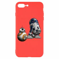 Чехол для iPhone 8 Plus R2D2 & BB-8 - FatLine