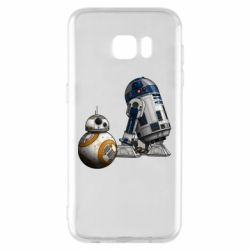 Чехол для Samsung S7 EDGE R2D2 & BB-8 - FatLine