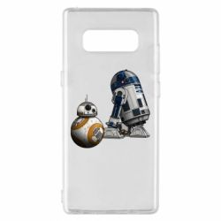 Чехол для Samsung Note 8 R2D2 & BB-8 - FatLine
