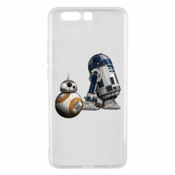 Чехол для Huawei P10 Plus R2D2 & BB-8 - FatLine
