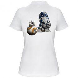 Женская футболка поло R2D2 & BB-8 - FatLine