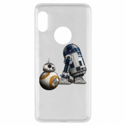 Чехол для Xiaomi Redmi Note 5 R2D2 & BB-8 - FatLine