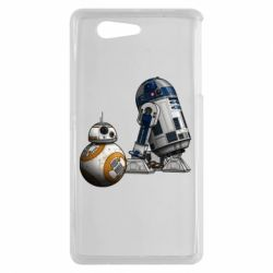 Чехол для Sony Xperia Z3 mini R2D2 & BB-8 - FatLine