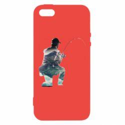 Чехол для iPhone5/5S/SE Рабак на колене - FatLine