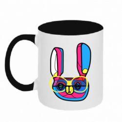 Кружка двухцветная Rabbit Art