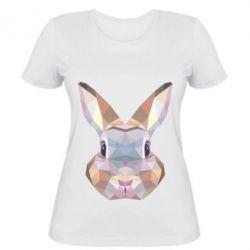 Женская футболка Rabbit Poly Art