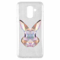 Купить Заяц, Чехол для Samsung A6+ 2018 Rabbit Poly Art, FatLine