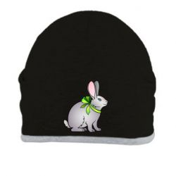 Шапка Rabbit with a green bow