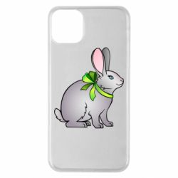 Чехол для iPhone 11 Pro Max Rabbit with a green bow