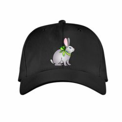 Детская кепка Rabbit with a green bow