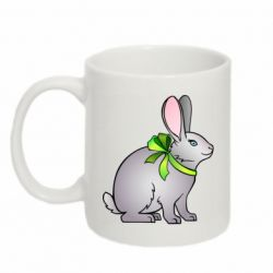 Кружка 320ml Rabbit with a green bow