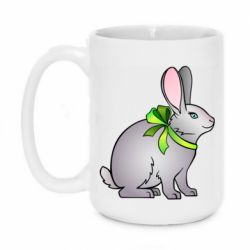 Кружка 420ml Rabbit with a green bow