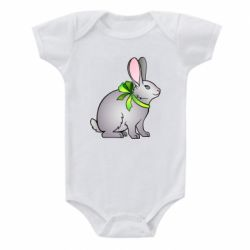 Детский бодик Rabbit with a green bow