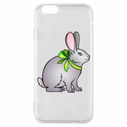 Чехол для iPhone 6/6S Rabbit with a green bow